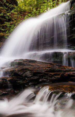 Vertical image of Onondaga Falls, in Glen Leigh at Ricketts Glen State Park, Pennsylvania Stock Photo - 20759452
