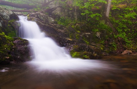 Small waterfall on Doyles River in Shenandoah National Park, Virginia. photo