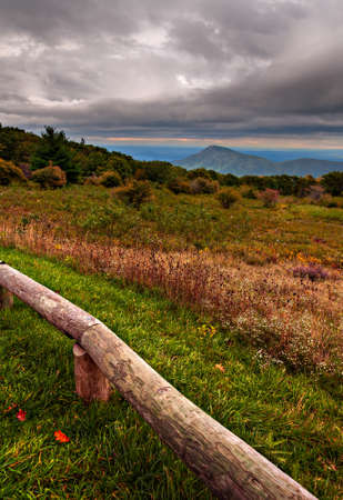 Storm clouds over Old Rag Mountain, seen from Skyline Drive in Shenandoah National Park, Virginia. photo