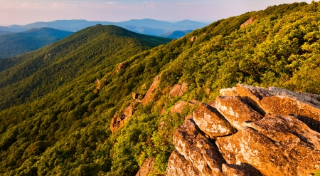 View of the Blue Ridge Mountains from the Pinnacle, along the Appalachian Trail in Shenandoah National Park, Virginia photo