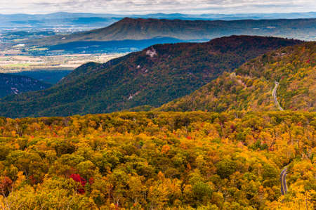 Autumn view of the Appalachians from Loft Mountain, Shenandoah National Park, Virginia. photo