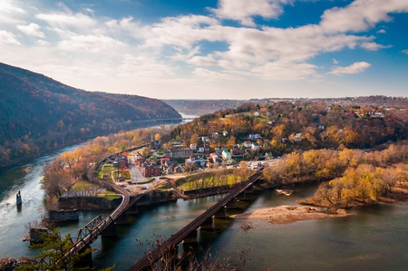 View of Harpers Ferry and the Potomac RIver from Maryland Heights.