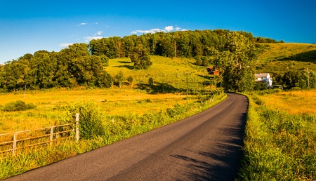 Country road in the rural Shenandoah Valley of Virginia. photo