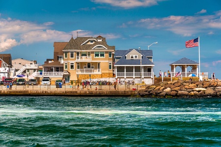 Beach houses along the inlet in Point Pleasant Beach, New Jersey.