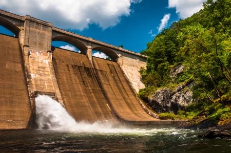 river county: Prettyboy Dam, along the Gunpowder River in Baltimore County, Maryland.