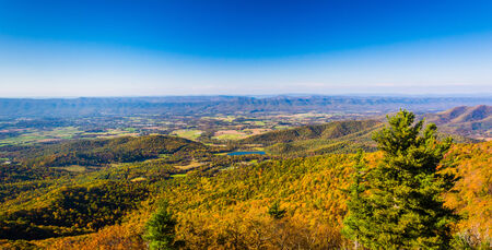 Autumn color in the Shenandoah Valley, seen from Skyline Drive in Shenandoah National Park, Virginia. photo