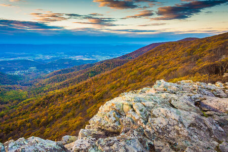 Autumn view from Crescent Rock, Shenandoah National Park, Virginia. photo
