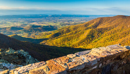 Autumn view from Hawksbill Mountain, Shenandoah National Park, Virginia. photo