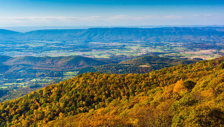 Autumn view from Skyline Drive in Shenandoah National Park, Virginia. photo