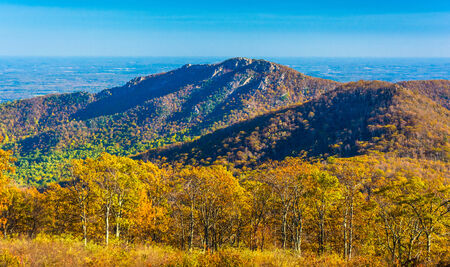 Autumn view of Old Rag, in Shenandoah National Park, Virginia. photo