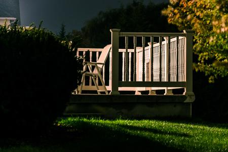 Back porch at night. photo