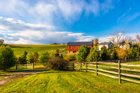 Beautiful farm in rural York County, Pennsylvania. photo