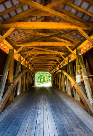 covered bridge': Interior of a covered bridge in rural Lancaster County, Pennsylvania.