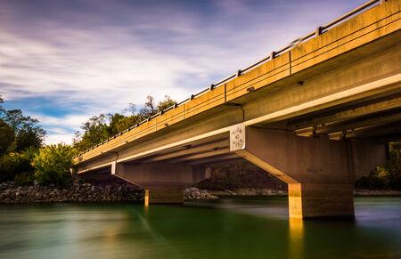 long lake: Long exposure of a bridge over Lake Marburg, in Codorus State Park, Pennsylvania.