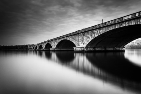 Long exposure of the Arlington Memorial Bridge, in Washington, DC. photo