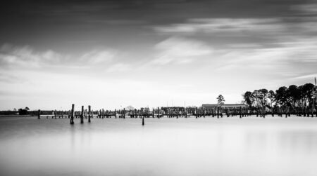 Long exposure of the harbor in Oxford, Maryland. photo