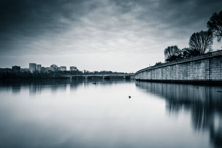 Long exposure of the Potomac River in Washington, DC. photo