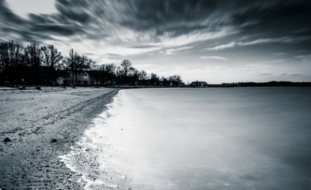 Long exposure on the Chesapeake Bay in Oxford, Maryland. photo