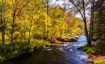 The Gunpowder River, in Baltimore County, Maryland. Stock Photo