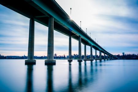 Il Ponte Accademia Navale, sul fiume Severn in Annapolis, Maryland.