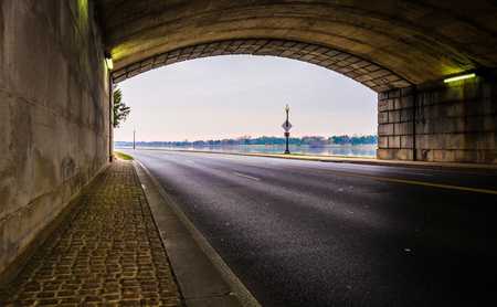 Tunnel on a road along the Potomac River in Washington, DC. photo