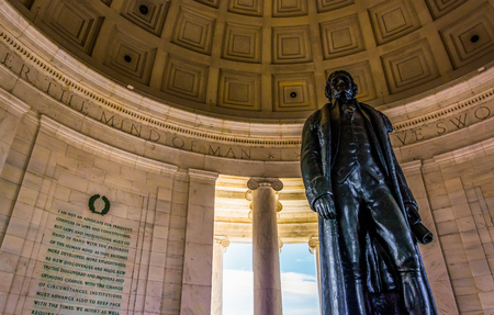 Inside the Thomas Jefferson Memorial, Washington, DC.