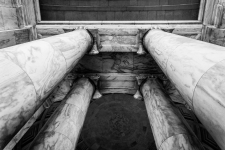 Looking up at columns at the Thomas Jefferson Memorial, Washington, DC. photo