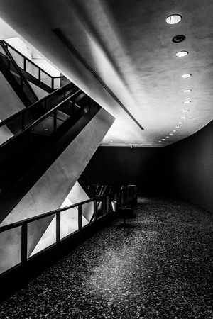 Modern Architecture And Escalators In The Hirshhorn Museum