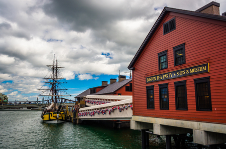 boston tea party: The Boston Tea Party Museum, in Boston, Massachusetts.