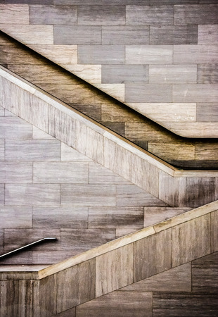 futuristic city: Staircases in the National Museum of the American Indian, in Washington, DC.