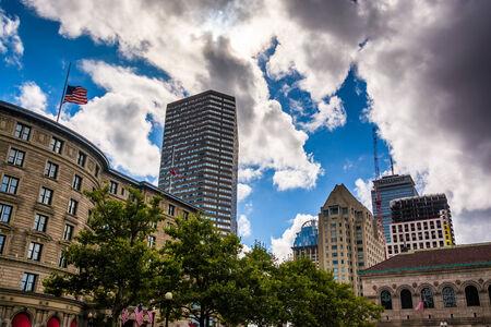 Buildings at Copley Square, in Boston, Massachusetts. Editorial