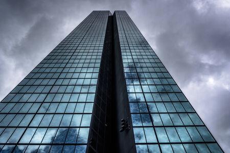 Storm clouds over the John Hancock Building, in Boston, Massachusetts. Editorial