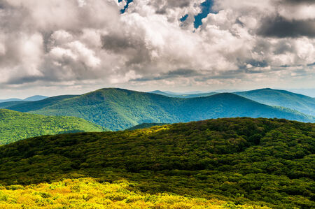 View of the Blue Ridge Mountains from Stony Man Mountain, in Shenandoah National Park, Virginia.