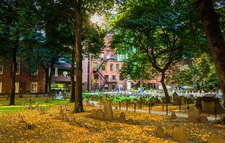 cemetary: Historic cemetary in Boston, Massachusetts. Editorial