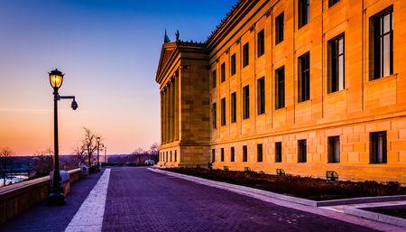 art museum: Il Museo d'Arte al tramonto, a Philadelphia, Pennsylvania.