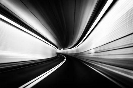 Long exposure taken in the Fort McHenry Tunnel, Baltimore, Maryland.