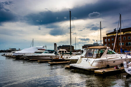 fells: Boats at a marina in Fells Point, Baltimore, Maryland. Editorial