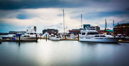 fells: Long exposure of a marina in Fells Point, Baltimore, Maryland.