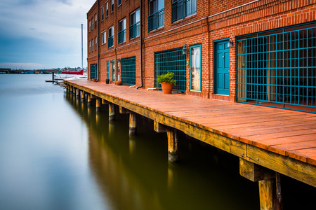 fells: Long exposure of waterfront residences in Fells Point, Baltimore, Maryland.