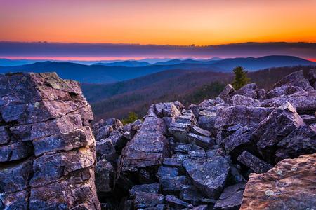 blackrock: Sunrise over the Blue Ridge Mountains from Blackrock Summit, Shenandoah National Park, Virginia.