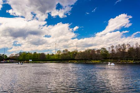 The lake at Washingtonian Center in Gaithersburg, Maryland.