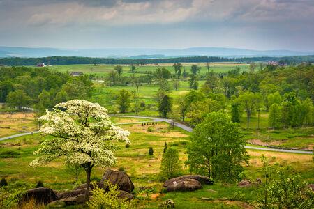 civil war: View from Little Round Top in Gettysburg, Pennsylvania.