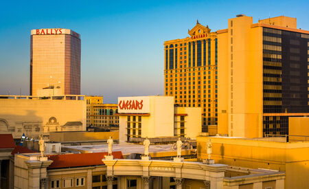 atlantic city: Evening light on  Caesars in Atlantic City, New Jersey. Editorial