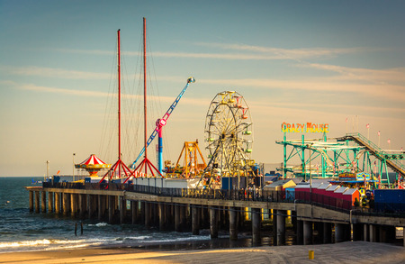 jersey: The Steel Pier at Atlantic City, New Jersey. Editorial
