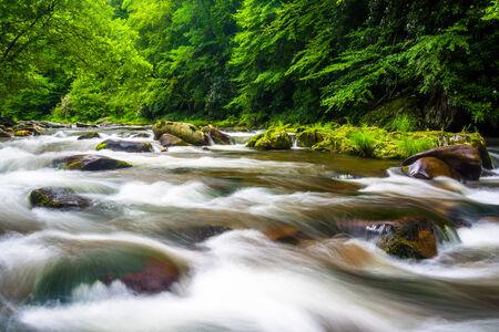smokies: Long exposure of cascades on Raven Fork, near Cherokee, North Carolina.