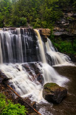 blackwater: View of Blackwater Falls, at Blackwater Falls State Park, West Virginia.
