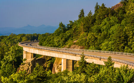 Linn Cove Viaduct, on the Blue Ridge Parkway in North Carolina.