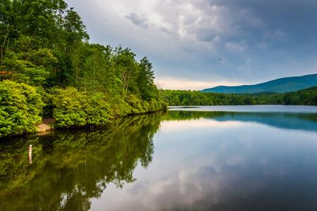 Julian Price Lake, along the Blue Ridge Parkway in North Carolina. photo