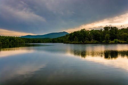 julian: Julian Price Lake, along the Blue Ridge Parkway in North Carolina.
