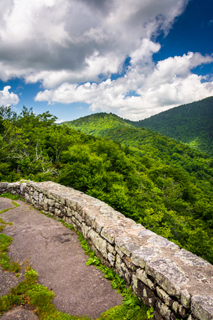 craggy: Mid-day view of the Appalachian Mountains  from Craggy Pinnacle, near the Blue Ridge Parkway in North Carolina.